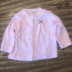 Carter's Pink Button-Up Long-Sleeve Shirt 6 Months